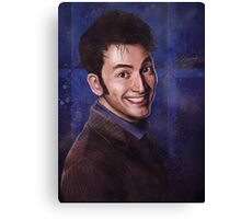 David Tennant as the 10th Doctor Canvas Print