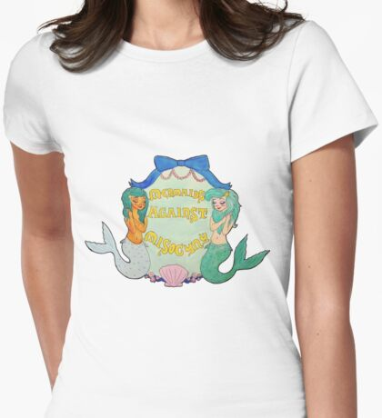 Mermaids Against Misogyny Womens Fitted T-Shirt