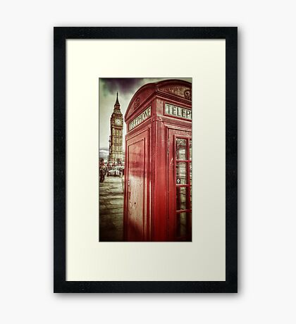 Big Ben and Red Box Framed Print