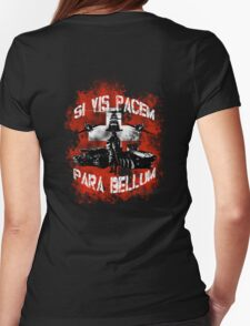 Si vis pacem para bellum swiss w. white font Womens Fitted T-Shirt
