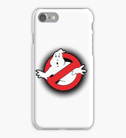 Original Ghostbusters Halftone Logo (in colour) iPhone Case/Skin