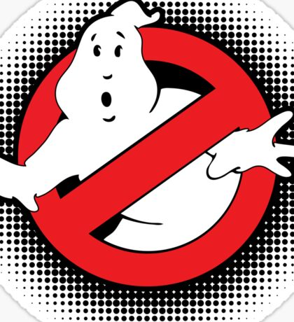 Original Ghostbusters Halftone Logo (in colour) Sticker