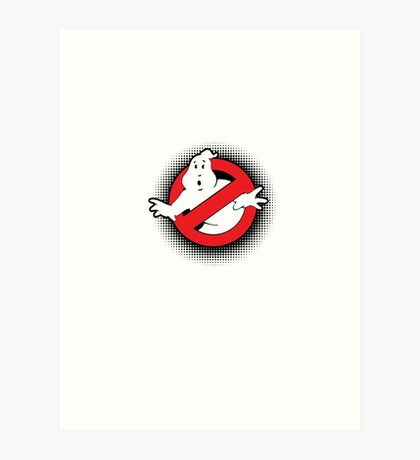 Original Ghostbusters Halftone Logo (in colour) Art Print