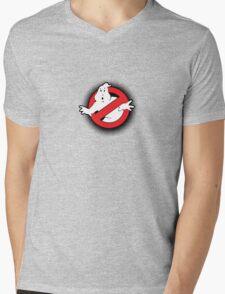Original Ghostbusters Halftone Logo (in colour) Mens V-Neck T-Shirt