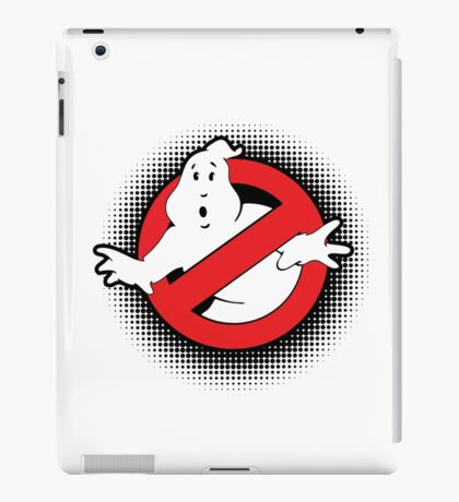 Original Ghostbusters Halftone Logo (in colour) iPad Case/Skin