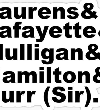 Hamilton Revolutionaries (black) Sticker