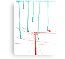 Wire Wire Telephone Metal Print