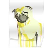 Maya The Pug Dog Portrait Poster