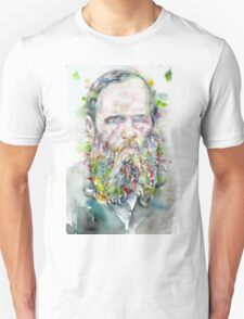 FYODOR DOSTOYEVSKY - watercolor portrait.5 T-Shirt