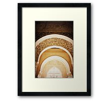 Beautiful carved arched doorways  Framed Print