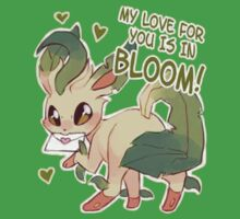 Leafeon Valentine's Day Card by everlander