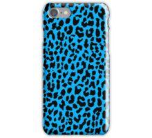 Neon Blue Leopard iPhone Case/Skin