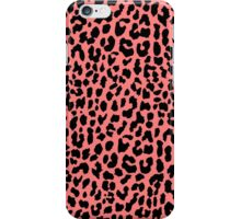 Neon Coral Leopard iPhone Case/Skin