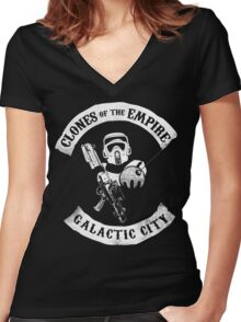 CLONES of the EMPIRE Women's Fitted V-Neck T-Shirt