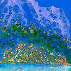 Mountains and wildflowers 2 by Penny Marcus