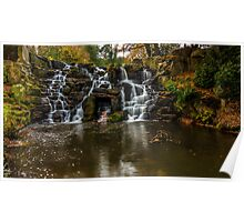 The waterfall in Virginia Water Poster