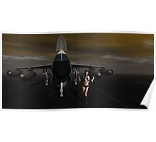 Sky Captain's B58  Bomber, Tower, We have a  problem Poster