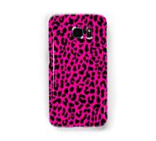 Neon Pink Leopard Samsung Galaxy Case/Skin