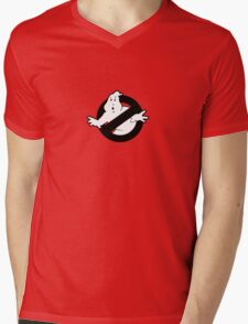 Original Ghostbusters Logo (in black and white) Mens V-Neck T-Shirt