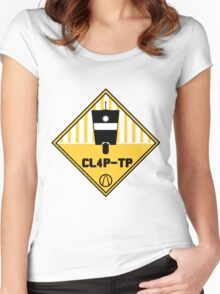 CL4P-TP Warning Women's Fitted Scoop T-Shirt