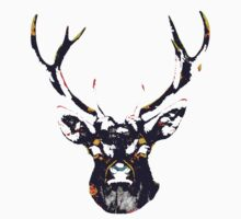 Stag Head T-Shirt by Jelly-Bean