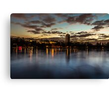 Reflection in lake Canvas Print