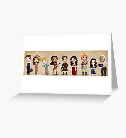 Lil' Damn Heroes Greeting Card