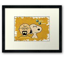 Breaking Bad Peanuts Framed Print