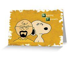 Breaking Bad Peanuts Greeting Card