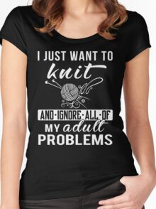 I Just Want to Knit Shirt Women's Fitted Scoop T-Shirt