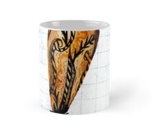 Brown Feather On Graph Mug