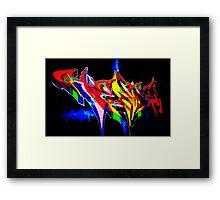 """Classic Graffiti on a """"Permission Wall"""" Framed Print"""