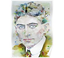 FRANZ KAFKA - watercolor portrait.6 Poster