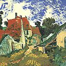 Villages Street in Auvers by Vincent van Gogh.  by naturematters