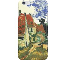 Villages Street in Auvers by Vincent van Gogh.  iPhone Case/Skin