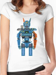 Chappie vector character fanart Women's Fitted Scoop T-Shirt