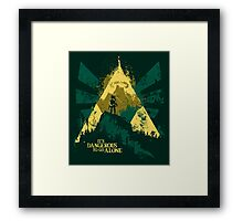 It's Dangerous To Go Alone Framed Print