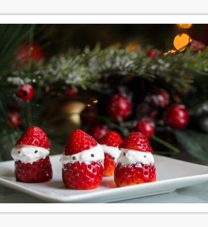 Strawberry Santa Sticker