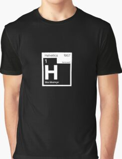 Helvetica Periodic Logo 2 (in white) Graphic T-Shirt