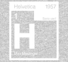 Helvetica Periodic Logo 2 (in white) Kids Tee
