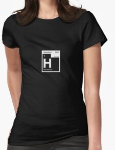 Helvetica Periodic Logo 2 (in white) Womens Fitted T-Shirt