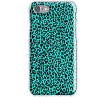 Neon Turquoise Leopard iPhone Case/Skin