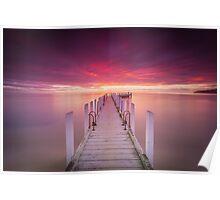 Safety Beach Sunset Poster
