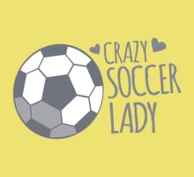 Crazy Soccer Lady Kids Tee
