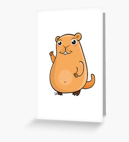 GroundHog Kawaii Greeting Card