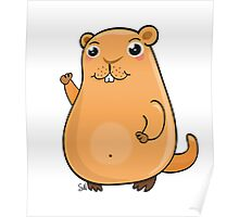 GroundHog Kawaii Poster