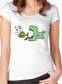 Whale fish Women's Fitted Scoop T-Shirt