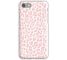 Pale Coral Leopard iPhone Case/Skin