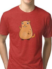 GroundHog Kawaii Tri-blend T-Shirt