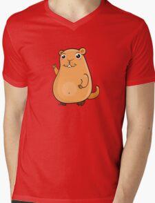 GroundHog Kawaii Mens V-Neck T-Shirt